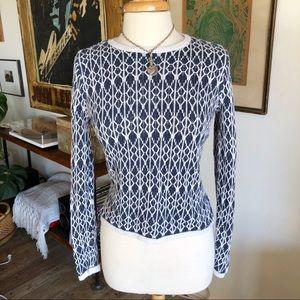 Loft textured 100% Linen high/low sweater Sz M